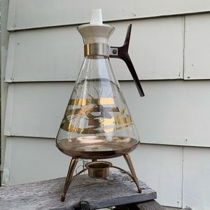 Vintage coffee carafe with Warner Inland Glass